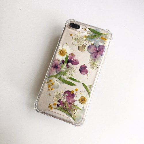 Track :: Gold Foil Dry Flower Phone Case