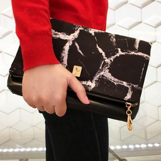 Simulation black marble natural pattern spring and summer new diagonal cross bag ladies 2018 handbag