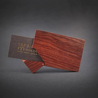 Selected texture series / handmade wood business card holder / wooden business card box / black gold sandalwood