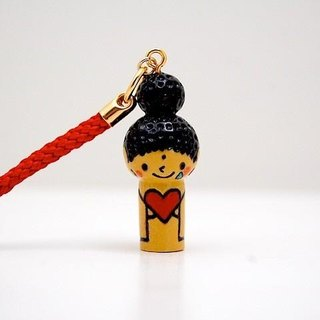 mini Kokeshi * Amitabha customers * strap * Heart ♥ Poron ..... [11]