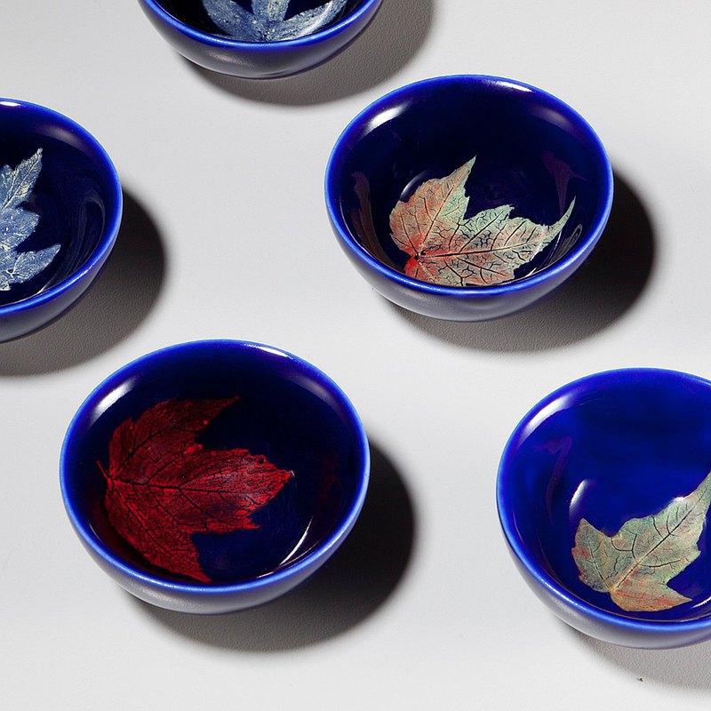 夢中之葉 木葉藍晶茶杯 30cc
