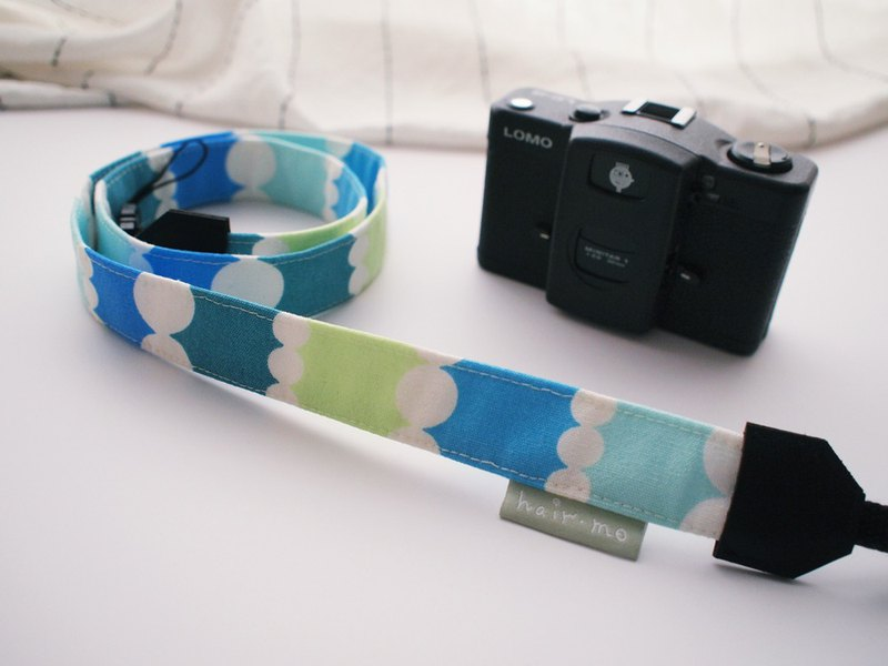 hairmo藍色泡泡手工相機背帶/手腕帶(相機/手機)