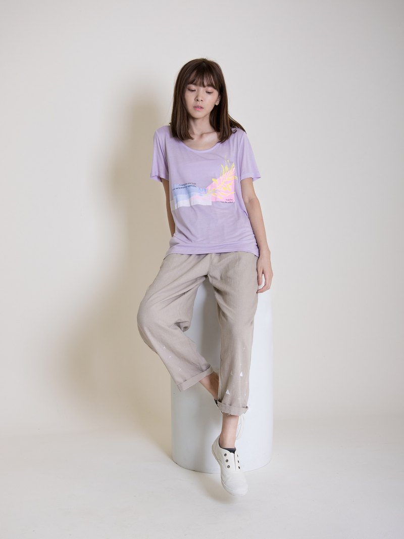 Short version T purple