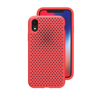 AndMesh-iPhone XR dot soft anti-collision protective cover - bright red (4571384958721