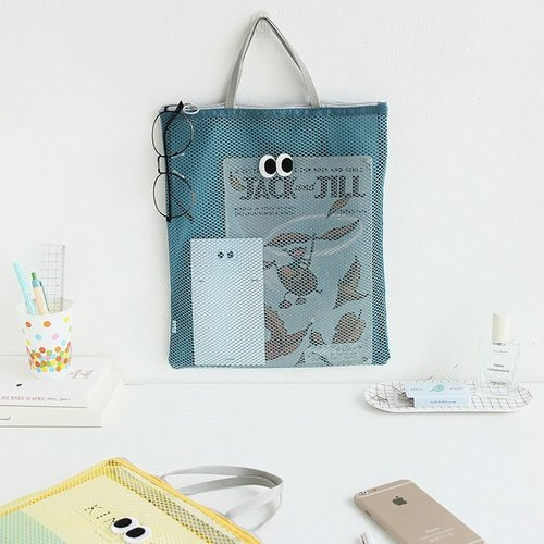 Smiley Hole Universal Tote Bag - Happy Blue Green, LWK33967