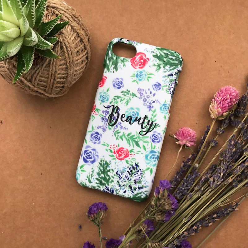 ROSE JUNGLE and Beauty. Matte Case( iPhone, HTC, Samsung, Sony, LG, OPPO)