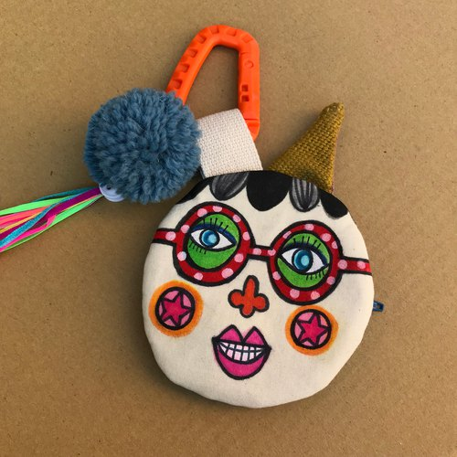 Dolly Head hand-painted sister head (tweeted) purse / small bag-DH007