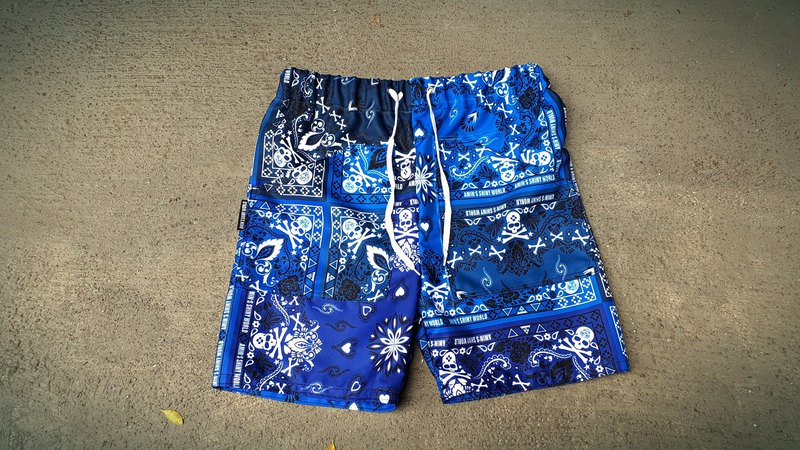 AMIN'S SHINY WORLD handmade custom original blue color amethyst shorts
