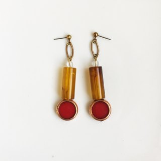 Rouge Brass Antique Resin Earrings