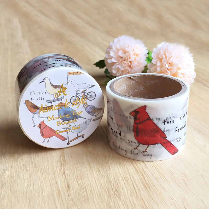 Aimez le style wild beauty deer and paper tape [dream bird] A02983