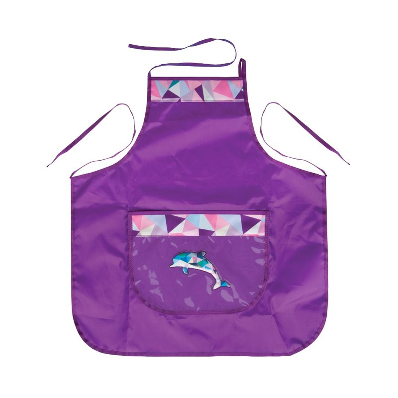 Tiger Family Painting Apron - Geometric Dolphin