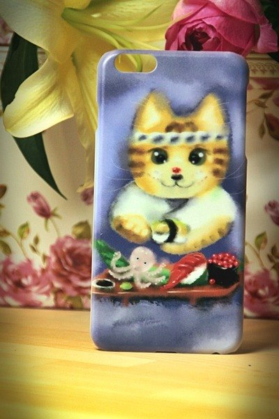 Watercolor cat s019 David Sushi Cat Videos Cat iPhone (i5.i6s, i6splus.I7.I7plus) / Android (Samsung, Samsung, HTC, Sony) designer mobile phone shell / protective cover / kitty cat phone shell