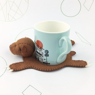Bear three-dimensional coaster(Brown color)