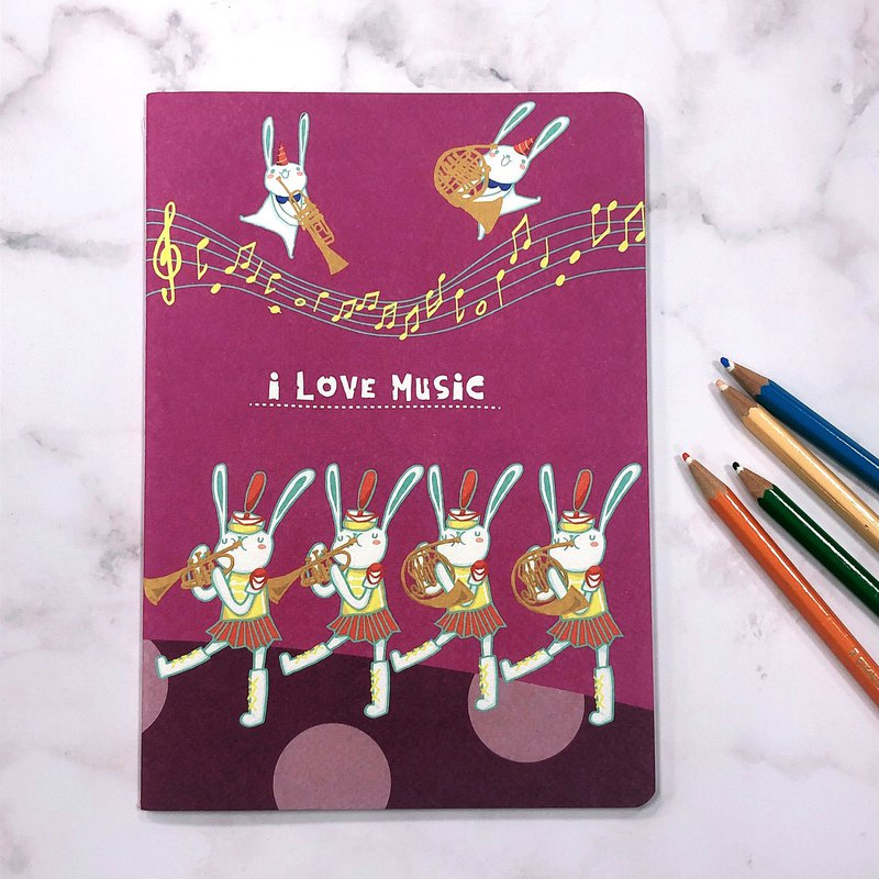 Wind Music Party Multifunctional Blank Car Line Notebook