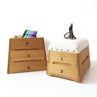 Japan Sakata Industries | Jumbo Box Wooden Mini Storage Box - Rafiki Stack 5 Layers