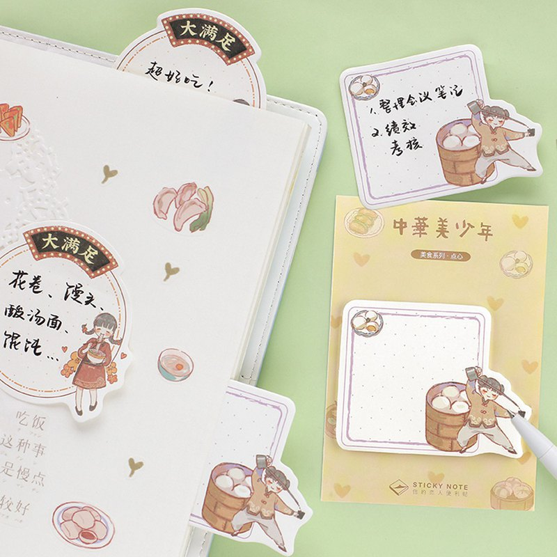 Letter lover's post-it <China and the United States> food series N times posted cute hand-decorated decorative notes