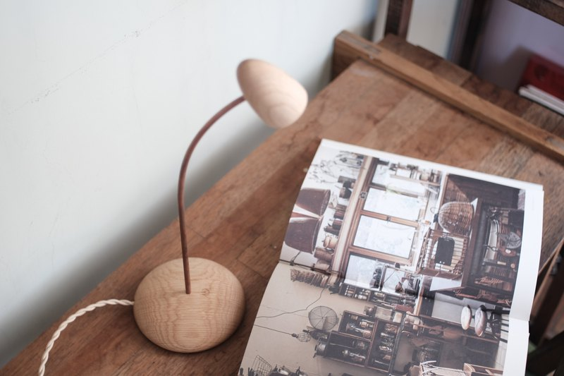 Touch light wooden handcrafted LED light USB Plug