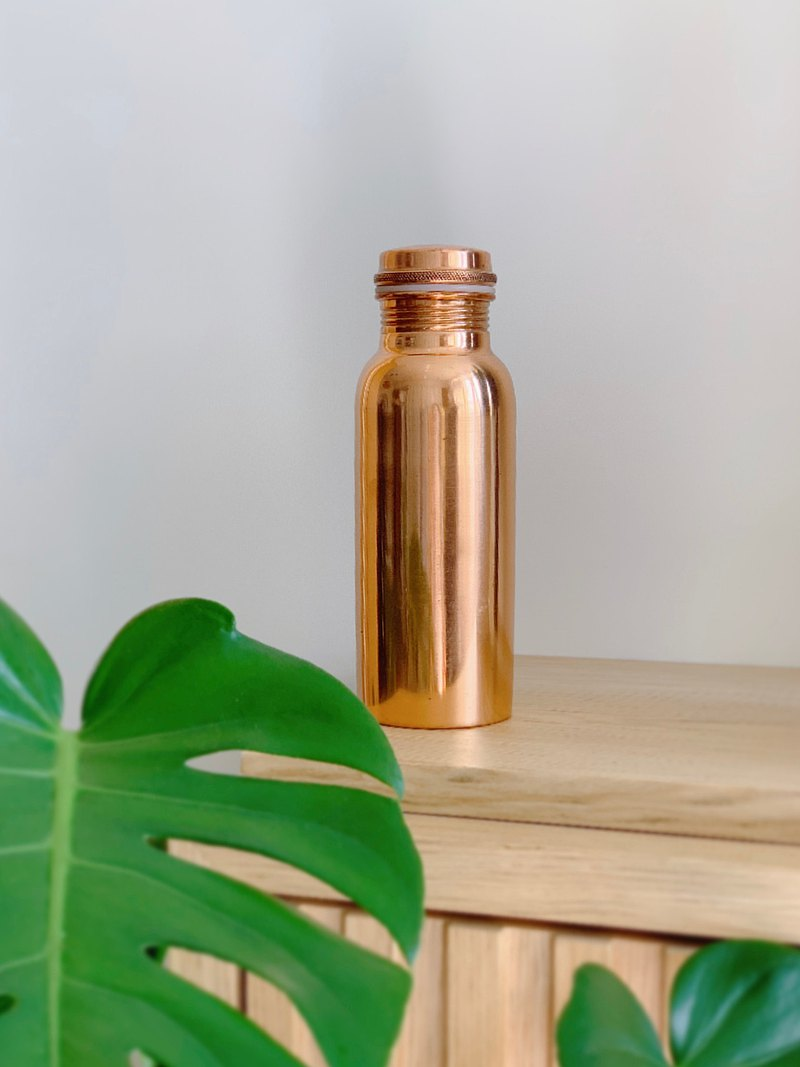 Handmade Copper Bottle - 550ml (Plain)