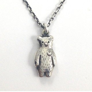 Valentine's Day gift Ohappy animal series. Bear sterling silver necklace