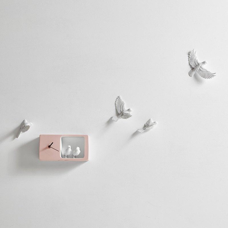 haoshi_Sparrow clock 麻雀時鐘_彩色版/粉紅