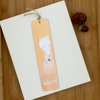 Hand-painted Metallic Bookmarks - White Fox - Pink Tangerine and Pink