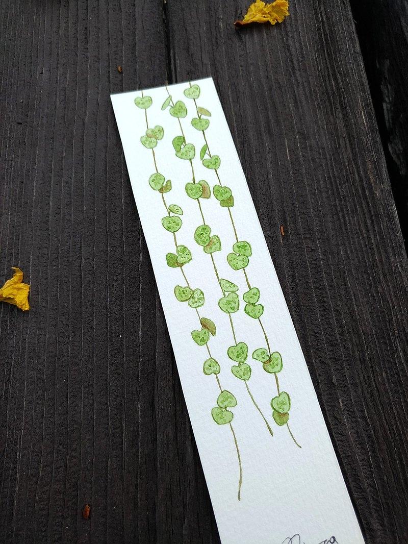 愛之蔓 室內園藝植物小禮物- 水彩手繪插畫書籤 卡片 (原畫)