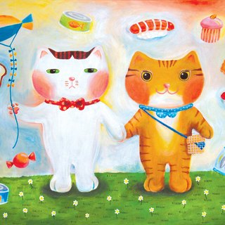 [] Cattitude Cat oil paintings Order - Romance Series -L17