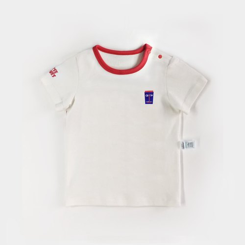 Baby t-shirt head embroidery 40 cotton 0 - 24 months