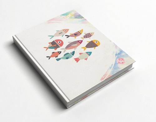 Rococo Strawberry WELKIN Handmade _ handmade book / notebook / PDA / diary ~ fish
