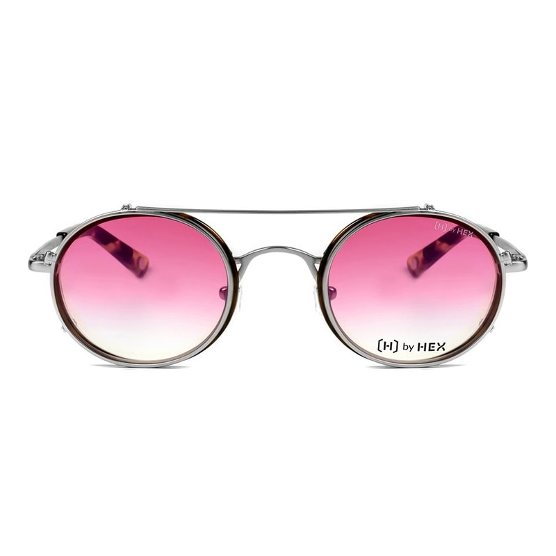 Optical with front sunglasses | Sunglasses | Pink lenses | Made in Taiwan
