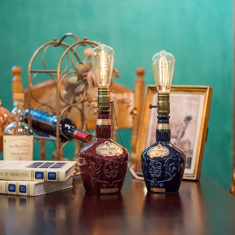 Intoxicating Royal Scottish Royal Salute 21 bottle table lamp