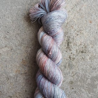Hand dyed line. cotton candy. (Ultra washed Merino/Silk/Single/Lace)