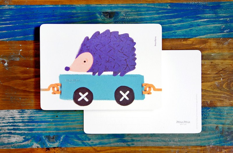 Mumu  Postcard - Hedgehog