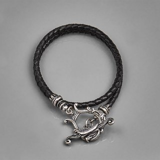Harp button scalp bracelet