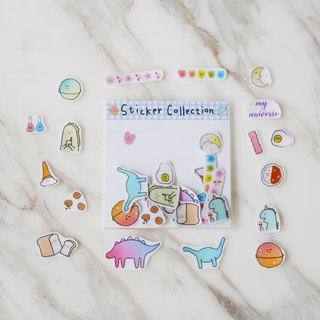 Dinosaur Planet Integrated Pocket / Transparent Sticker