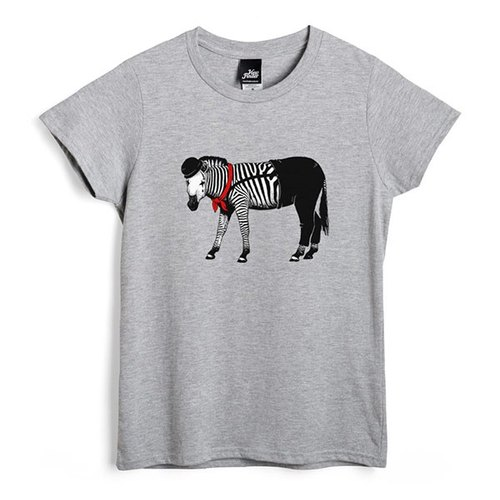 Zebra mime - Deep Heather Grey - Women's T-Shirt