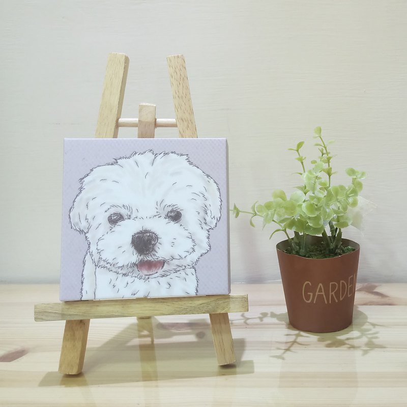 Small picture frame - lightweight frameless painting - Maltese