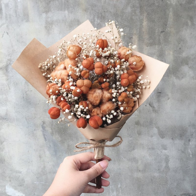 Broken Buns Cotton Dry Bouquet Graduation Bouquet Flower: Go ahead