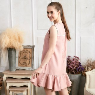 Pink Ruffle Drop Waist Dress (woman)