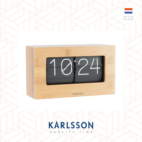 Karlsson, Table clock Boxed Flip bamboo