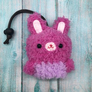 Marshmallow Animal Key Bag - Small Key Bag (Little Peach Rabbit)