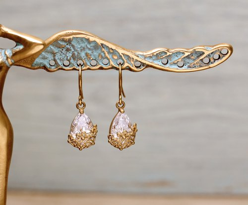 Collection zircon brass earrings