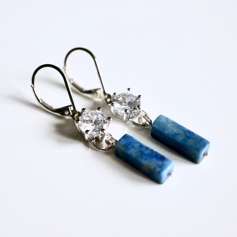ITS: 217 [Earring Series · Greenstone] 925 silver fine fine ear hook earrings. With exquisite packaging.
