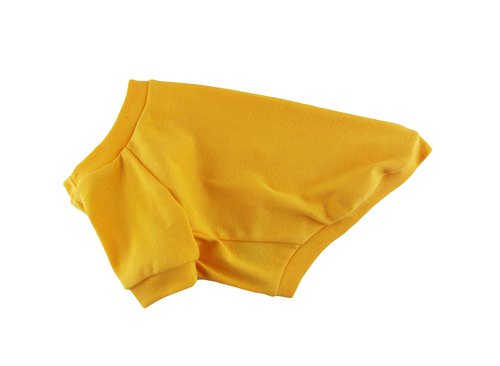 Yellow 1 x 1 Cotton Rib Knit Tee, Dog T-shirt, Dog Apparel
