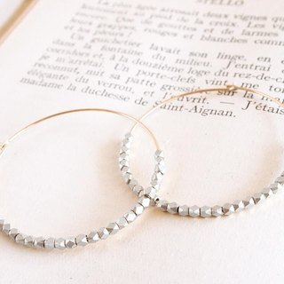 14KGF Metal Beads Hoops SV / L