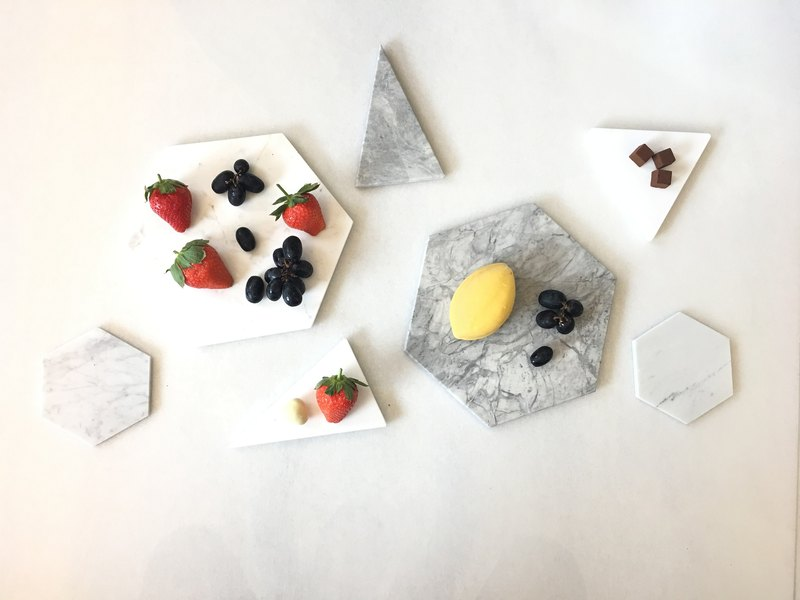 Ahe DECO Customized Goods - 15*15*1CM Grey Marble Dish