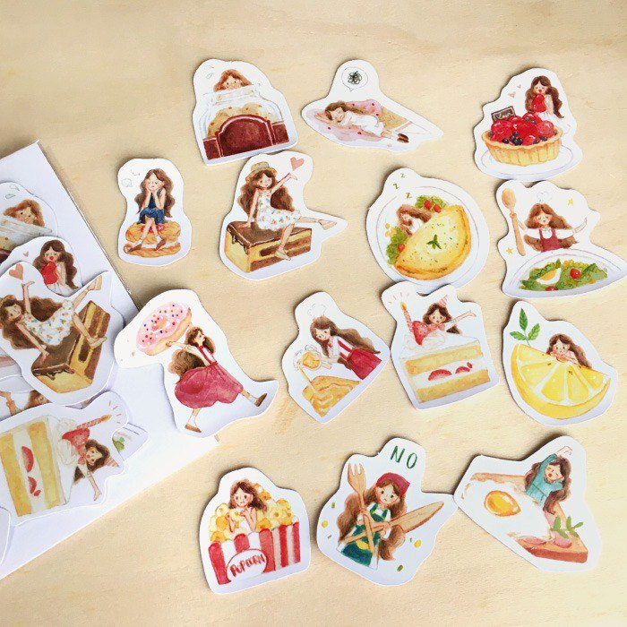 Thumbelina Buffet Sticker Pack 14pcs