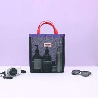 Second Mansion glare grid universal tote bag-01 black glare, PLD63659