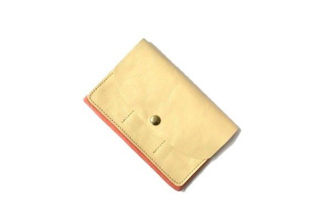CU195IV Multi Porch Passbook Seal Pharmaceutical Personal Handbook Examination Ticket Wallet Leather Genuine Leather Leather Big Scale Unisex