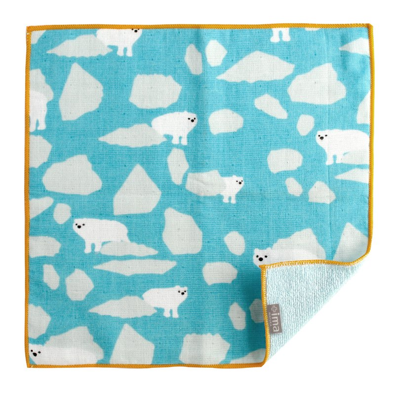 + ima WAFUKA Japan made Absorbent Soft, Cute & Unique Handkerchief - Polar Bear